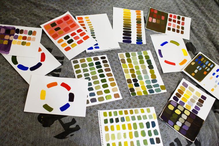 акриловые краски, мастер-класс, рисование маслом