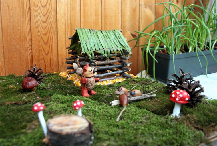 Поделки своими руками для сада из природного материала