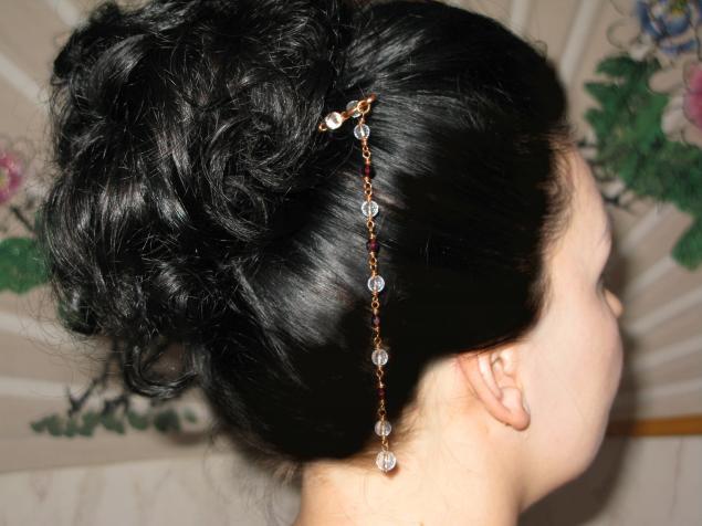 заколка, подарок к 8 марта, длинные волосы