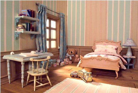 Кукольный домик интерьер