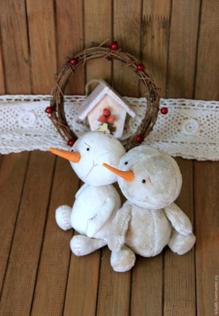 снеговик текстильный