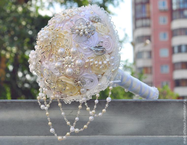 Создание свадебного брошь-букета: публикации и мастер-классы
