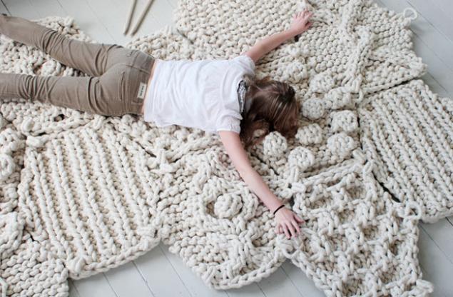 Вязание ковров и ковриков - Master class