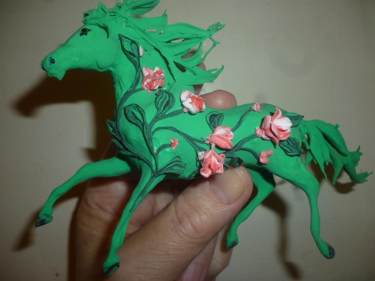 картины, пейзаж, лошадка, весна, подарок девушке