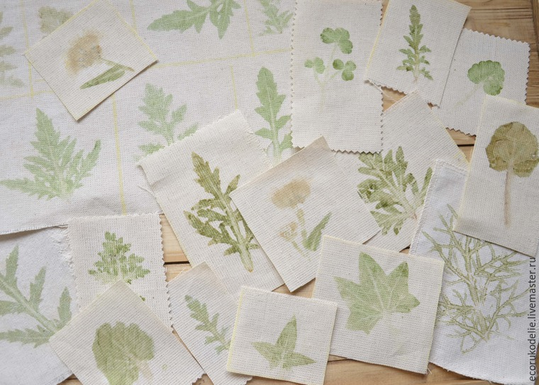 How to Make Plant Prints on Fabric, фото № 14