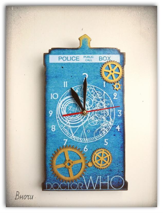 настенные часы, доктор кто часы