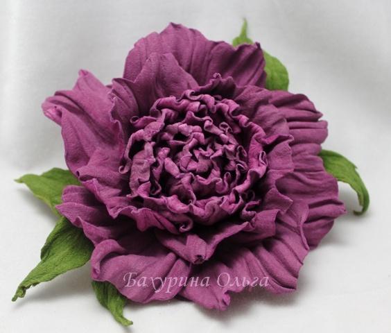 цветы ручной работы, кожаные цветы
