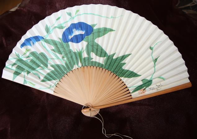 веер, винтажный японский веер