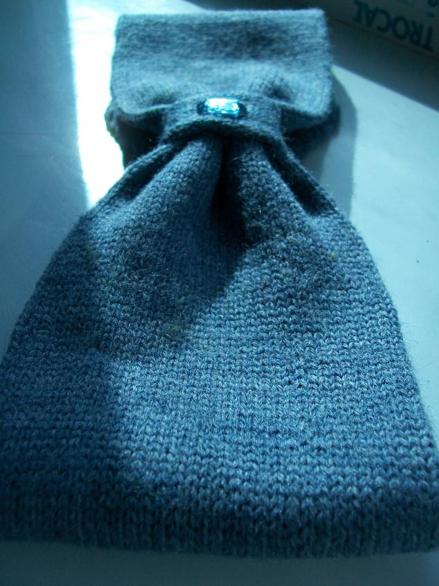 вязаный шарф, зима 2014