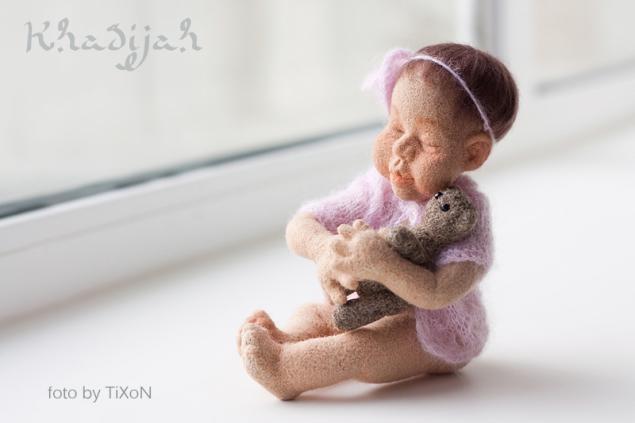 авторская кукла, малыш, девочка