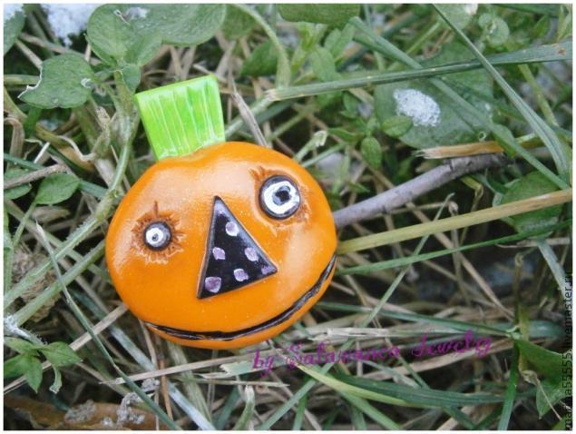 pumpkin for halloween, тыква из пластики