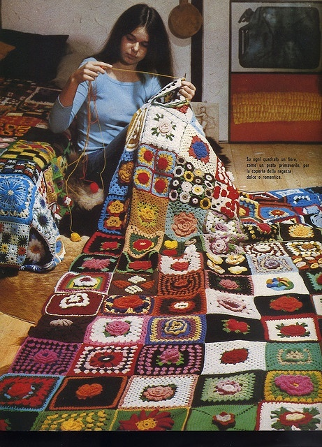 This Afghan is from a Vintage Craft Book...talk about Amazing variety!!
