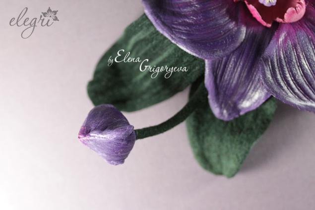 авторские цветы, эксклюзивная орхидея, орхидея кожаная
