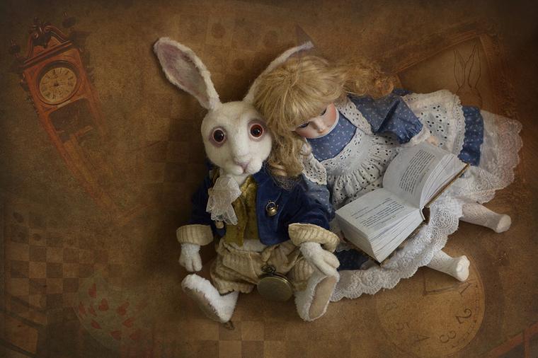 алиса в стране чудес, винтажный кролик