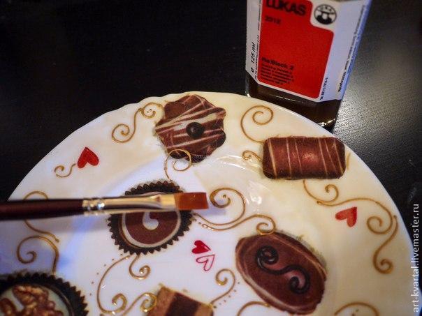 Сладкий декор тарелки, фото № 5