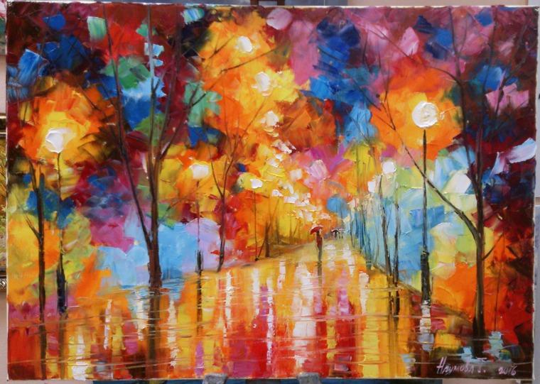 урок живописи в спб, пишем пейзаж, школа живописи, афремов, мастер класс живописи