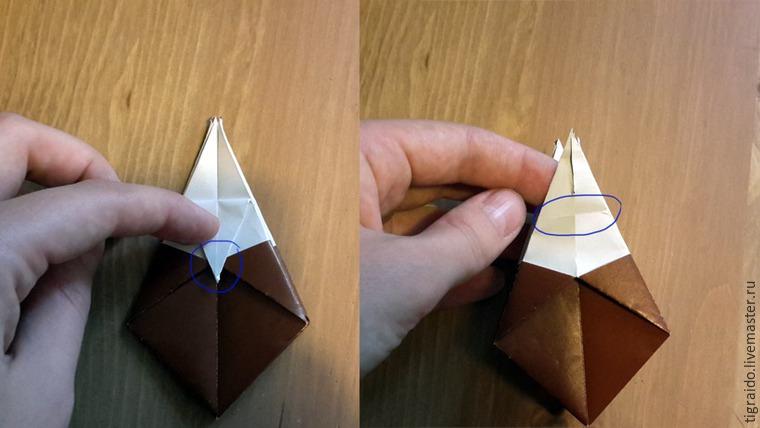 Оригами: пасхальная курочка, фото № 9