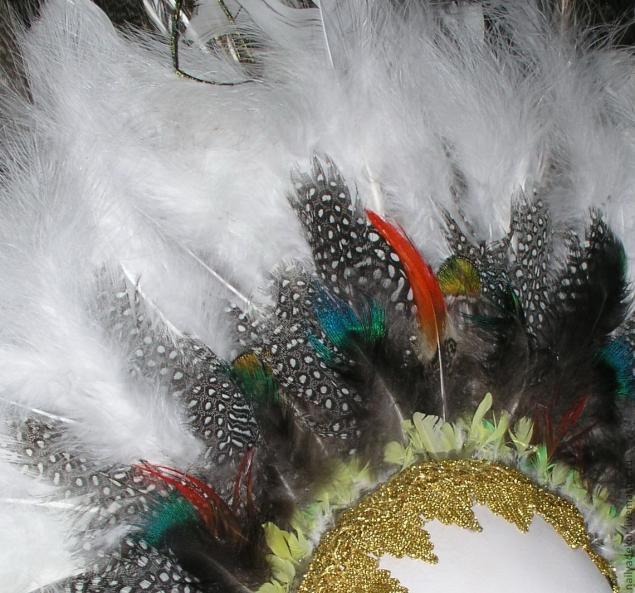 Изготовление венецианской маски с перьями.Техника папье-маше., фото № 17