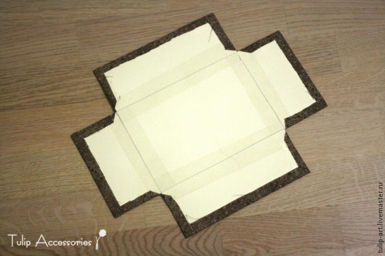 Шкатулка-комод из картона. Автор Елена Никитина 35