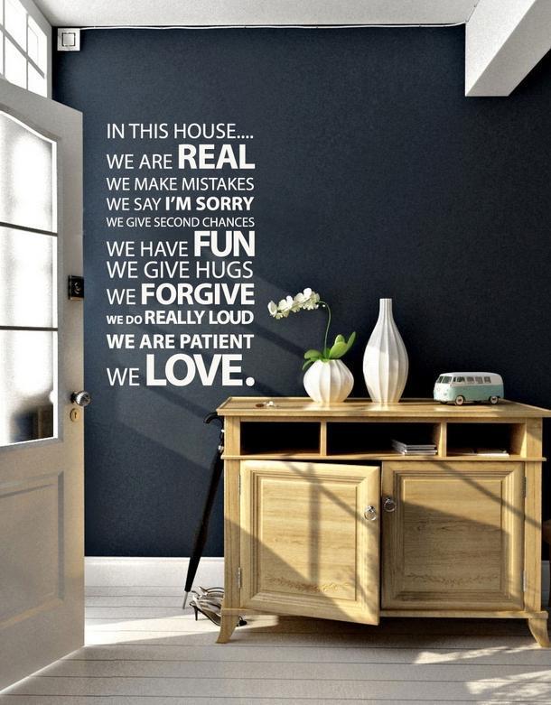 Мысли на виду! (или 60 идей декора стен с помощью слов, букв и цифр), фото № 1
