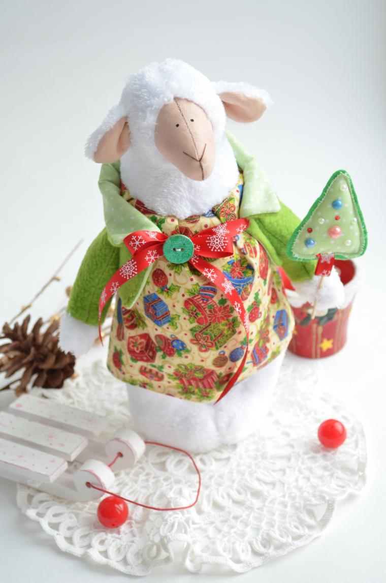 овечка новогодняя, набор для творчества, новогодний мастер-класс, бяшка