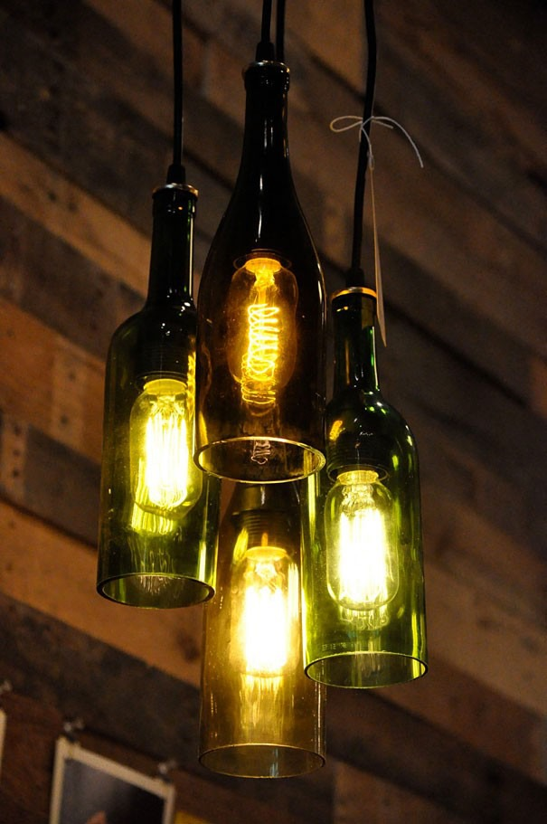 Светильники своими руками из стеклянных бутылок своими руками