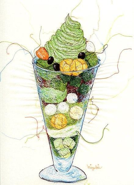 Вышитые иллюстрации от Миюки Сакаи (Miyuki Sakai), фото № 10
