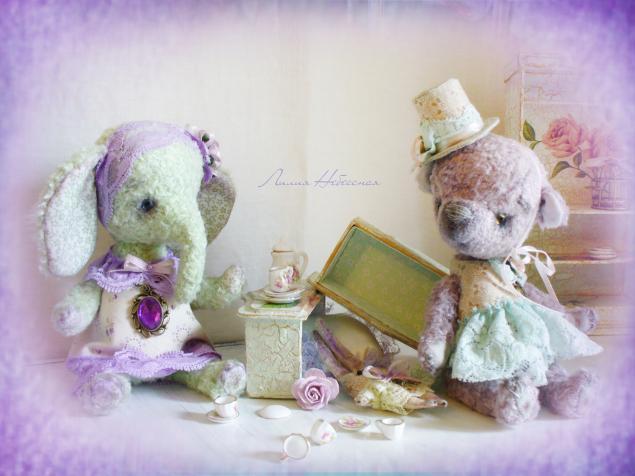 мишки тедди, слоник, зайка, лилия небессная