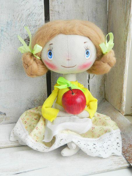конфетка розыгрыш, яблоки, кукла, декупаж, домовой, набор для кухни, кухня, подарок девушке
