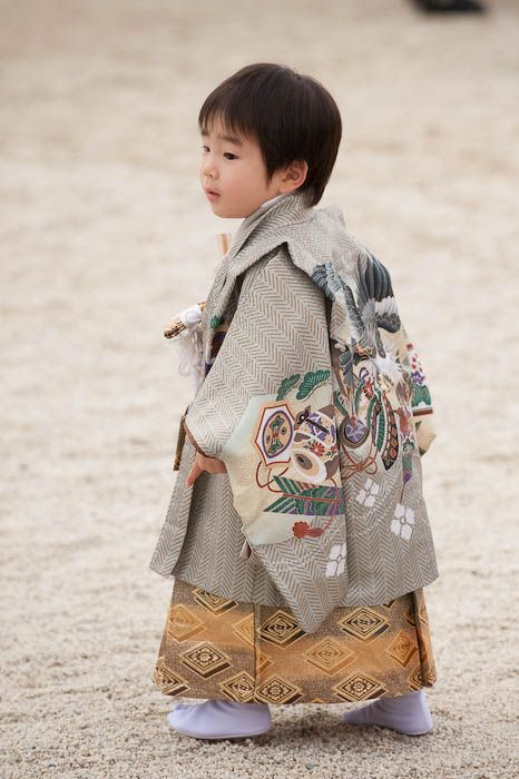 Shichi - go - san meaning 7 - 5 - 3. These are the ages that the kids get blessed at the Shinto Shrine.