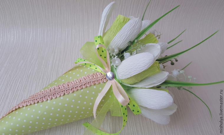 Как сделать цветы из бумаги с конфетами фото 490