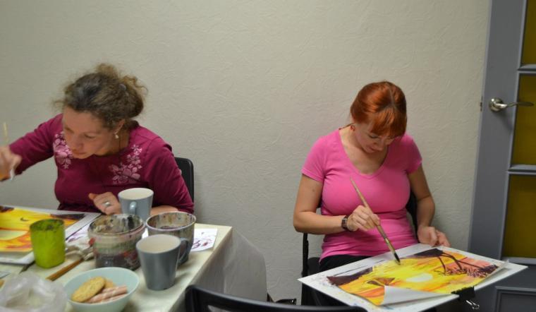 обучение, пастель, бумага