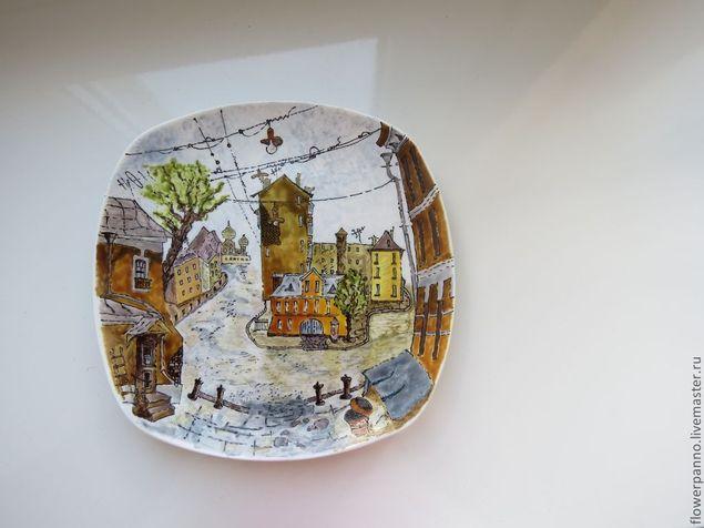 Рисунки на старых тарелках