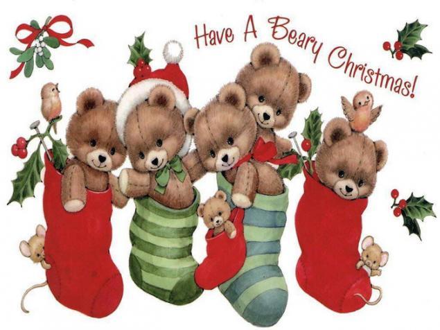 с новым годом, мишки тедди, корецкая алена