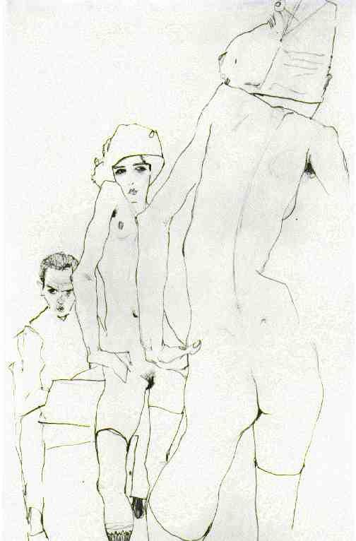 Черно-белая графика знаменитых художников, фото № 22