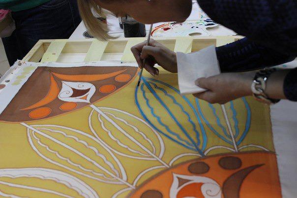 Технология создания платка в технике холодного батика. Совсем скоро 2-х дневный курс!!, фото № 3