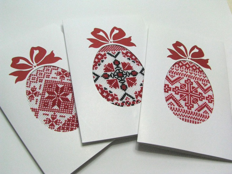 Открытки, пасхальные открытки вышить
