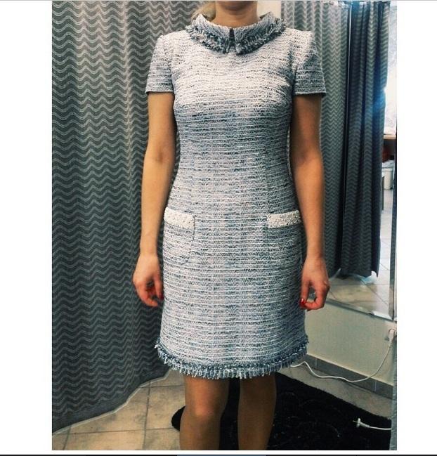 Сшить платье из ткани шанель 51