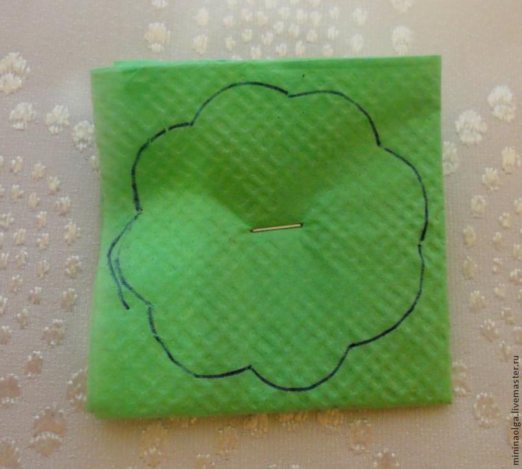 Новогодняя елочка из бумажных салфеток своими руками, фото № 14