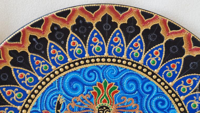 Мастер-класс по точечной росписи: тарелка-панно «танцующий Шива», фото № 18