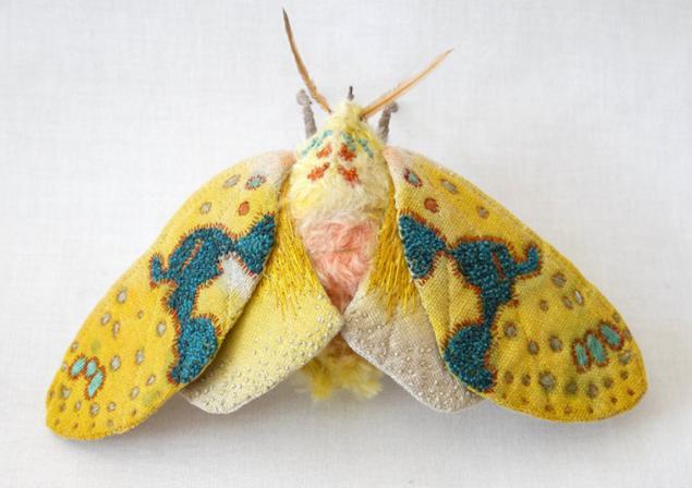 Дивные текстильные насекомые от мастера Yumi Okita, фото № 6