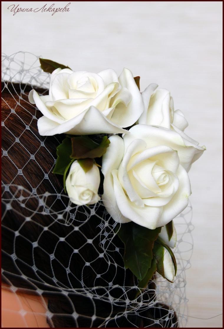 вуалетка с розами