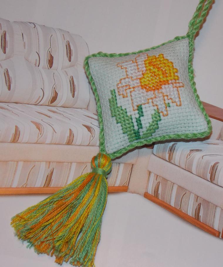 подвеска, ручная вышивка