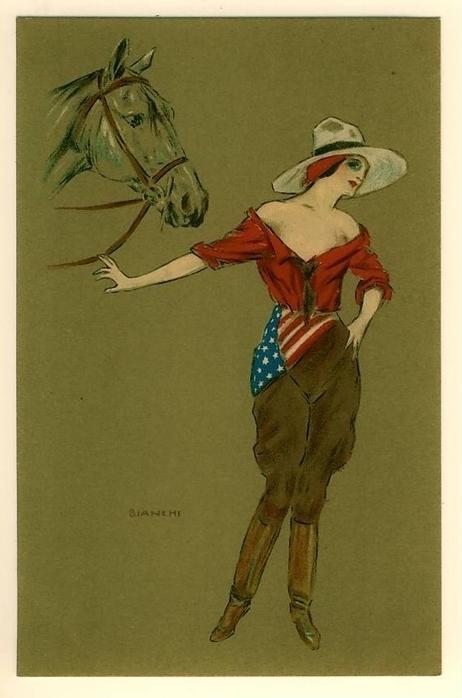 Ретро открытки с лошадью