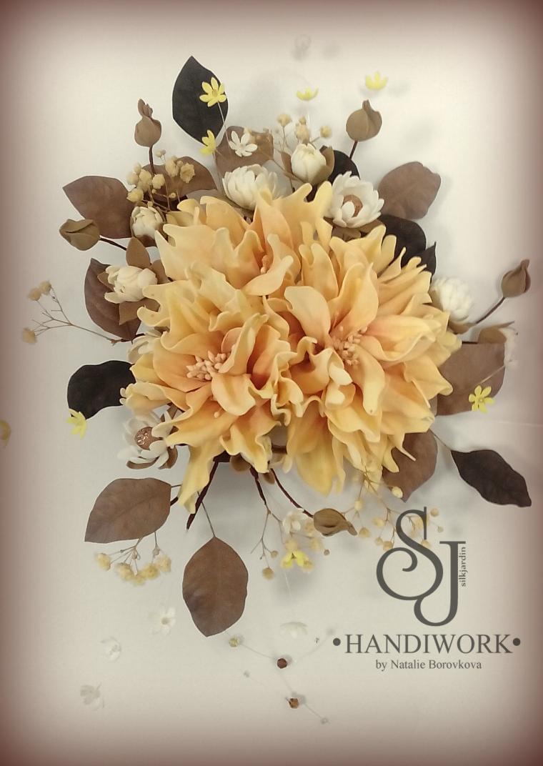 мастер-класс по цветам, пластичная замша, урок, украшение с цветами, цветы из фома, школа рукоделия