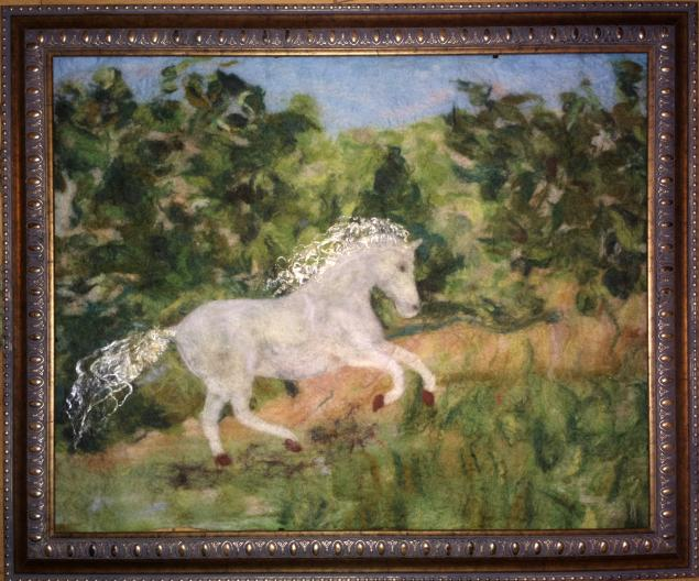 войлочная живопись, войлочная акварель, картины из шерсти, валяние картин, мастер-класс по валянию, войлок картины, обучение валянию, мокрое валяние, валяние для начинающих, людмила бреусова, клуб жизнетворчества, валяные картины, войлочные картины, подарок на новый год, подарок, новый год, символ года, год лошади, мастер-класс год лошади