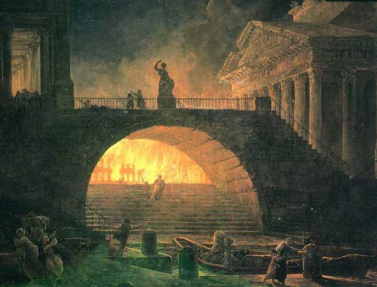огонь в картинах