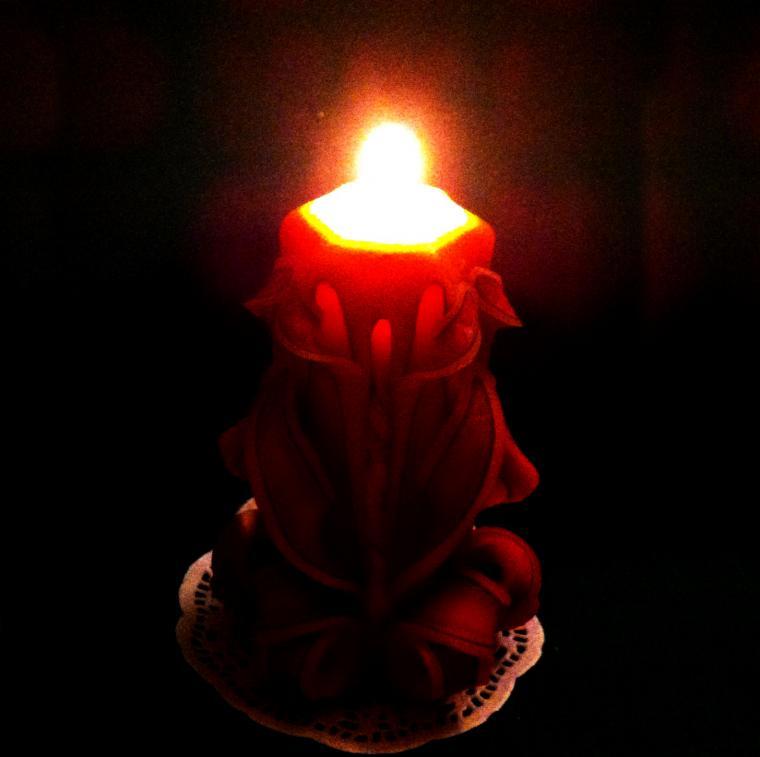 резные свечи москва, свечи ручной работы
