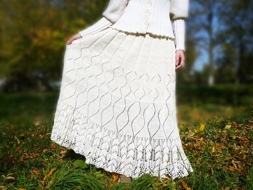 платье длинное, купить вязаную юбку