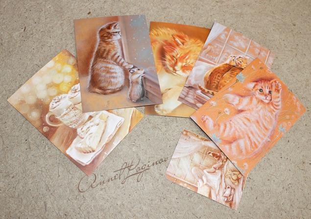 коллекционные открытки, подарки на весну, почтовые открытки